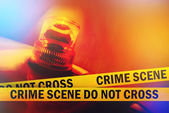 Crime Scene Do Not Cross — Stock Photo
