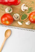 Garlic Parsley Mushroom Tomato And Paprika Recipes — Stock Photo