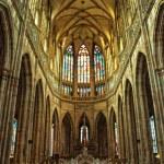 St. Vitus cathedral interior — Stock Photo #9632830