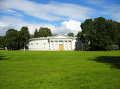 Kitchen Building Yelagin Palace from butyric meadows. St. Petersburg — Stock Photo