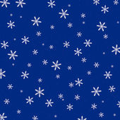 3d Render of Snowflakes on a Blue Background — Stock Photo
