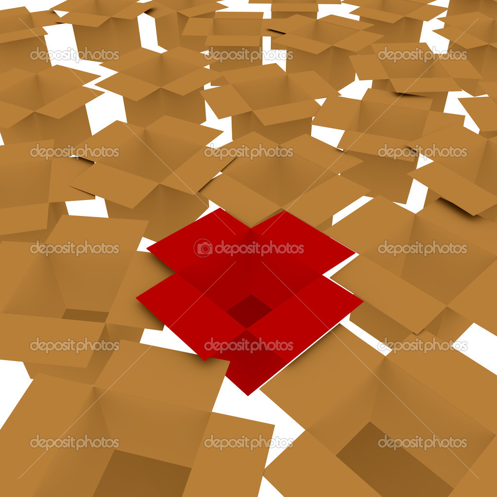 3d Render Concept of Standing out from the Crowd — Stock Photo #14035700