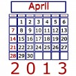3d Render April 2013 Calendar — Stock Photo