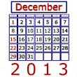 3d Render December 2013 Calendar — Stock Photo
