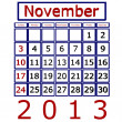 3d Render November 2013 Calendar - Stock Photo