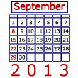 3D Render Kalender September 2013 — Stockfoto