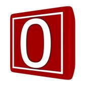 3d 渲染字体设置 1 个数字 0 — 图库照片