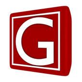 3d Render Font Set 1 Letter G — Stock Photo