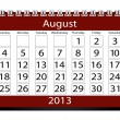 3d Render 2013 Calendar August - Stock Photo