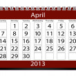 3d Render 2013 Calendar April — Stock Photo