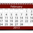 3d Render 2013 Calendar February - Stock Photo