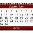 3d Render 2013 Calendar September — Stock Photo #17849201