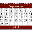 3D Render 2013 Kalender september — Stockfoto