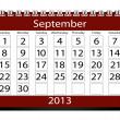 3D vykreslení kalendář 2013 září — Stock fotografie