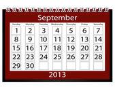 3d render 2013 calendrier septembre — Photo