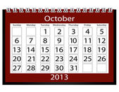 3d Render 2013 Calendar October — Stock Photo