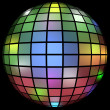 Royalty-Free Stock Photo: 3d Render of a Colorful Disco Ball