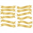 Set of Gold Banners — Stock Vector #2440414