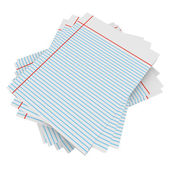 3d Render of a Stack of Notebook Paper — Stock Photo