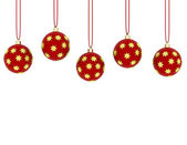 3d Render of Hanging Red Ornaments — Stock Photo