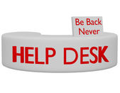 3d Render of a Help Desk — Stock Photo