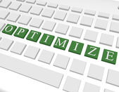 3d Render of a Keyboard Spelling Out Optimize — Stock Photo