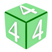3d Font Cube Number 4 — Stock Photo