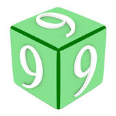 3d Font Cube Number 9 — Stock Photo