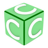 3d Font Cube Letter C — Stock Photo