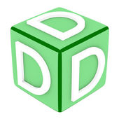 3d Font Cube Letter D — Stock Photo