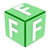 3d Font Cube Letter F — Stock Photo