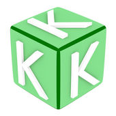 3d Font Cube Letter K — Stock Photo
