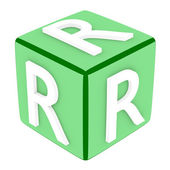 3d Font Cube Letter R — Stock Photo