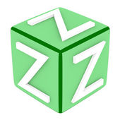 3d Font Cube Letter Z — Stock Photo