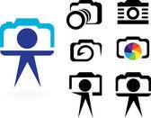 Stylized photo camera — Stock Vector
