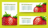 Background with strawberries — Stock Vector