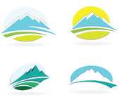 Mountain icon — Stock Vector