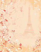 Paris, background with the Eiffel tower — Stock Vector