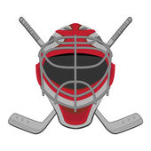 Hockey goalie. — Stock Vector