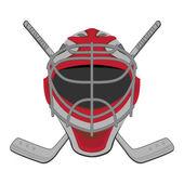 Hockey goalie. — Stock Vector