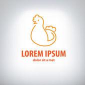 Logotipo de pollo — Vector de stock
