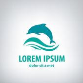 Dolphin icon design element — Stock Vector