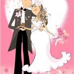 düğün günü — Stok Vektör #13956605