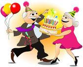 Grandfather's birthday — Stock Vector