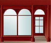 Shop window — Stok Vektör