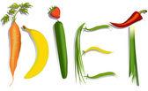 Diet sign — Vecteur