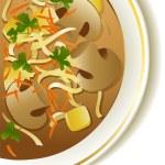 Mushroom soup — Stock Vector #21705617