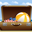 Summer luggage — Stock Vector