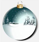 Christmas ball med vinterlandskap — Stockvektor
