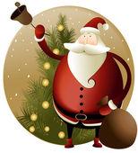Fundo de Natal com Papai Noel — Vetor de Stock